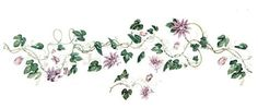 Passion Flower Wall Stencil by DeeSigns