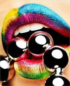 RAINBOW Lip Art - Yu Tsai Lips Photography