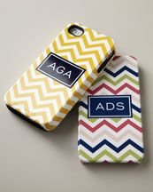 Bridesmaids Gifts Chevron iPhone Monogram Case thepapertreecompany.com