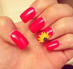 Sunflower nails!