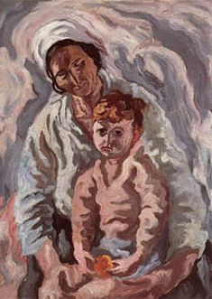 """Ritratto di """"Madre con bambino"""" Carlo Levi 1960"""