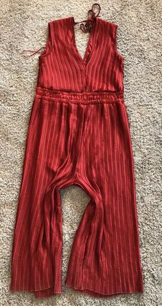 Romeo + Juliet Couture Women's Large Red Jumpsuit L Romper Pleated New NWT  | eBay
