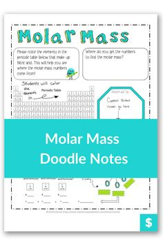 Are you looking for a fun and creative way to teach molar mass to high school students? Or even make it easy for homeschool moms to learn? These notes illustrate how to calculate molar mass and the step by step way to practice different types of problems. Plus, they are color coded to make learning easier! #chemistry High School Chemistry, Chemistry Teacher, Teaching Science, Student Learning, Molar Mass, Chemistry Worksheets, Chemical Equation, High School Students
