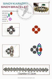 Ewa gyöngyös világa!: Sindy karkötő minta / Sindy bracelet pattern