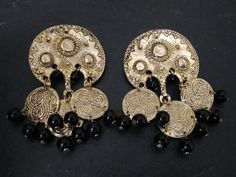 Vintage Gold Boho Earrings by WhiteMagpieJewellery on Etsy, £9.00