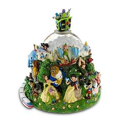 Disney Snow Globe - Four Parks One World - Walt Disney World Resort