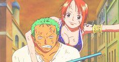 Zoro and Nami One Piece Gif, One Piece Funny, One Piece Nami, One Piece Fanart, One Piece Manga, Zoro Nami, Roronoa Zoro, Anatomy Sketches, Fairy Tail Love