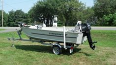 2000 14ft deep v starcraft boat motor and tralier for sale 2008 karavan trailer 1997 20 hp merc best running motor i ever had .it also has a 55lbs foot controll trolling motor   fish finder ,anchor .very nice boat no problems what so ever $3500 obo    207-458-4467  mike (8/2012- China Maine)