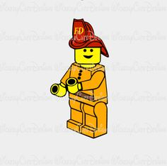 Lego Fireman SVG, DXF, EPS, PNG Digital File – Wickedly Cute Designs
