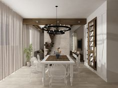Dinnig room for family apartment #interior #ideas #design #architecture #modern # lifestyle