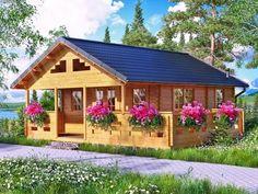 Dom domek z bala poddasze domki domy drewniane cena 29 900,00zl