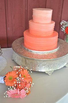 ombre wedding cake- beautiful