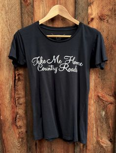 Shop for Bandit Brand - Take Me Home Country Roads Tee in Black/White Ink at Show Pony Boutique. A marvelous women's boutique featuring clothing, shoes, jewelry, accessories, handbags and gifts. Free Shipping on orders over $200