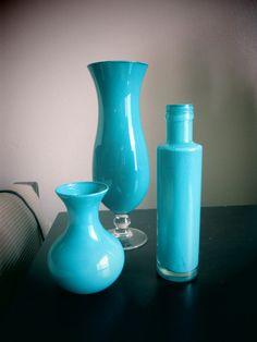Chic Turquoise Vase Set