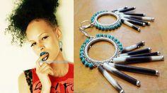 Porcupine Quill Earrings Statement Earrings by AlluringYouJewelry