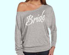 BRIDE Print Slouchy off Shoulder Gray Dolman  Bride by AMBridal, $23.99