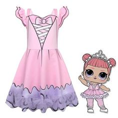 Girls Dresses L. Surprise Doll Party Dress Girl's 5 Styles Toddler Little Girls Costumes Kids Clothing Accessories - 8 Girl LOL Birthday Party Little Girl Dress Up, Girls Dress Up, Girls Party Dress, Lol, Little Girl Costumes, Trick Or Treat Costume, Vs Fashion Shows, Doll Party, Halloween Dress