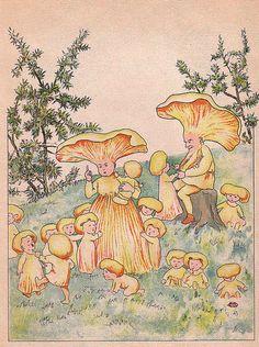 There Are Strange Things Happening Every Day (by wackystuff) Pretty Art, Cute Art, Pintura Hippie, Mushroom Art, Mushroom Drawing, Psy Art, Retro Poster, Fairytale Art, Hippie Art