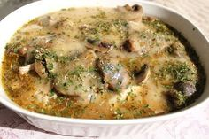 What's Cookin' Italian Style Cuisine: Chicken and Rice with Mushroom Marsala Casserole Baked Chicken And Mushrooms, Chicken Mushroom Casserole, Oven Baked Chicken, Stuffed Mushrooms, Stuffed Peppers, Cooked Chicken, Mushroom Chicken, Turkey Chicken, Mushroom Sauce