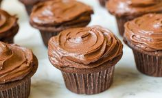 Chocolate Cupcakes with Creamy Chocolate Frosting - Once Upon a Chef