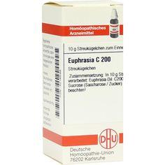 EUPHRASIA C 200 Globuli:   Packungsinhalt: 10 g Globuli PZN: 04216599 Hersteller: DHU-Arzneimittel GmbH & Co. KG Preis: 9,59 EUR inkl. 19…