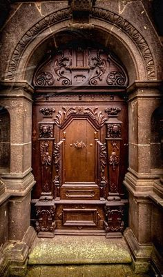 Gorgeous carved wood door and entrance & Islam and Art : Photo | CAC LOAI CUA | Pinterest | Islam Doors and ...