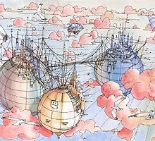 Le Tre Mongolfiere by Luca Massone  disegni