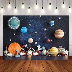 Support Telephone Bureau, Nasa Party, Space Baby Shower, Birthday Party Photography, Outer Space Party, First Birthday Party Themes, Birthday Backdrop, Decoration, Space Theme