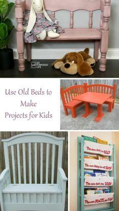 Diy Furniture Couch, Diy Furniture Plans Wood Projects, Refurbished Furniture, Repurposed Furniture, Furniture Makeover, Diy Projects, Furniture Storage, Chair Makeover, Projects For Kids