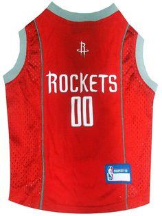 NBA Houston Rockets Dog Jersey Tank Free Shipping. Nba SportsNba BasketballPet  DogsPetsRocket ... 370ac25d6