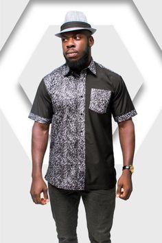 da4930d2a141da African Print Shirt Leopard Print Shirt Wandizi Shirt