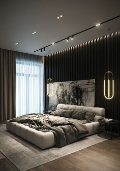 Bedroom ideas and bedroom inspirations Modern Luxury Bedroom, Master Bedroom Interior, Luxury Bedroom Design, Modern Master Bedroom, Bedroom Bed Design, Bedroom Furniture Design, Home Room Design, Dream Home Design, Luxurious Bedrooms