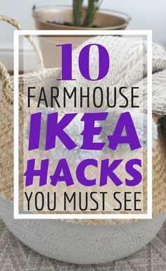If farmhouse decor is your fave home decor style then don't miss these 10 Farmhouse DIY Ikea hacks that you can do on a budget! Farmhouse Style Decorating, Decorating On A Budget, Farmhouse Decor, Farmhouse Front, Vintage Farmhouse, Decorating Hacks, Modern Farmhouse, Farmhouse Interior, French Farmhouse