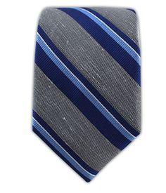 Social Stripe- Gray (Linen Skinny)