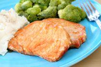 Pork Chops and Broccoli Rabe with Garlic Recipe.