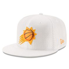 wholesale dealer 1cdb8 5e1f2 Men s Phoenix Suns New Era White 2017 Official On-Court Collection 59FIFTY  Fitted Hat