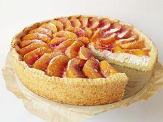 Citromhab: Őszibarackos túrótorta Peach Cheesecake, Apple Pie, Dishes, Cooking, Cukor, Food, Vaj, Workouts, Deserts