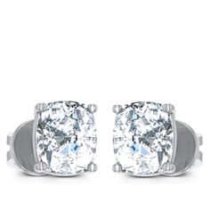 Moon Solitaire Earring Diamond Solitaire Earrings, Moon, Jewels, Engagement Rings, The Moon, Enagement Rings, Wedding Rings, Jewerly, Diamond Engagement Rings