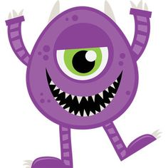 (FREE Daily Cut File) Purple Cute Monster - Available today only, Oct 7 Classroom Crafts, Preschool Crafts, Fun Crafts, Halloween First Birthday, Purple Halloween, Felt Monster, Monster Party, Cartoon Monsters, Cute Monsters