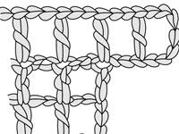 Increase Multiple Spaces at the Beginning of a Row in Filet Crochet (For Dummies)