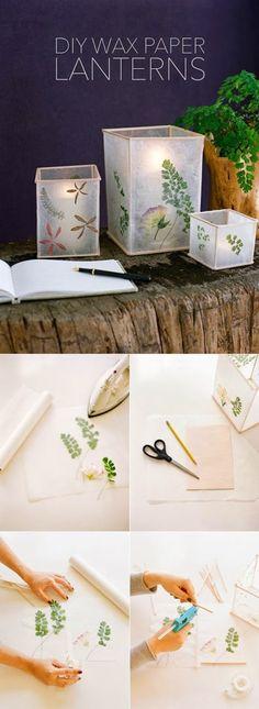 DIY : Wedding Wax Paper Lantern
