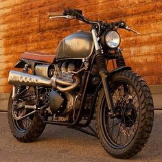 "3,819 Likes, 7 Comments - Drop Moto (@dropmoto) on Instagram: ""Yup, this is just right. Triumph Bonneville Scrambler dialed in by @cafetwin. Bellissimo!…"""