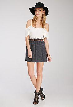 Belted Polka Dot Skirt | Forever 21 - 2000078786