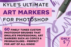 Kyle's Art Markers for Photoshop by Kyle's Pro Design Tools  on Creative Market