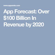 App Forecast: Over $100 Billion In Revenue by 2020