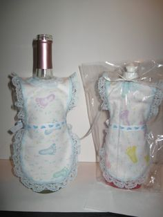 Baby boy wine bottle/dish soap apron by maradacreations on Etsy, $4.00