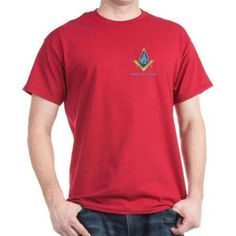 Cafepress Personalized Mason Square & Compass Men's Dark T-Shirt, Size: Large, Red