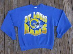 31ee1b0f0 Vintage St. Louis Rams Sweatshirt NFL Mens XL  Hanes  StLouisRams