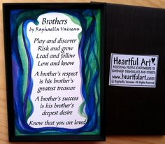 BROTHERS 2x3 #MAGNET Original #Poem by Raphaella Vaisseau #Heartfulart #brother #raphaella_vaisseau #heartful_art #etsy #family #relationship #birthday #sibling