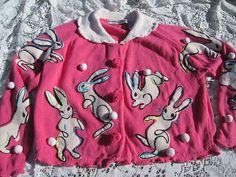 Vintage 1994 Michael Simon Pink Bunny Sweater Size 2 Med LRG | eBay $20.50